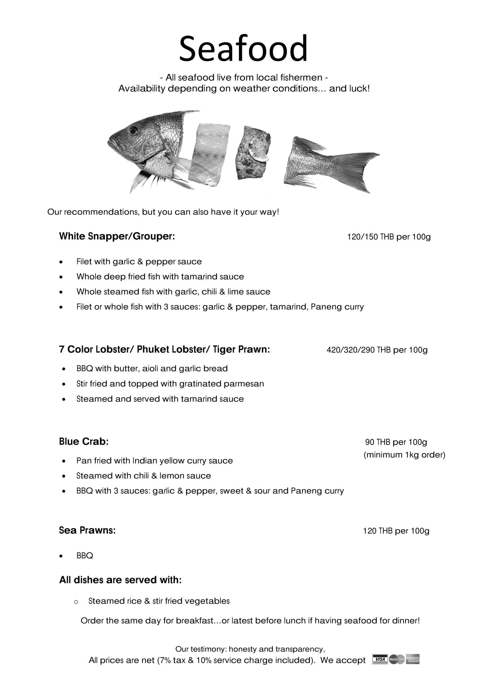 Koh Yao Noi Seafood