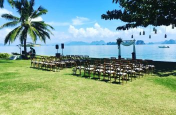 Beach wedding on Koh Yao Noi, Thailand
